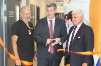 Caboolture Hospital Acting Executive Director Dr Simon Bugden, State Member for Morayfield Mark Ryan and I-MED CEO Steven Rubic officially open the new Caboolture Hospital medical imaging facility.