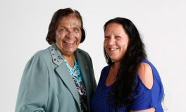 Elder Aunty Lorelle Bird, from Deception Bay, with Caboolture Indigenous Hospital Liaison Officer Michelle Pieper.