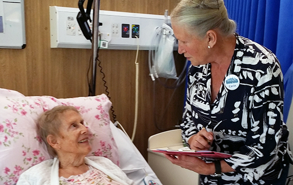 Woman helping patient