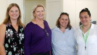 Headspace Caboolture Centre Manager Shaye Long, Kilcoy Hospital Facility and Nursing Director Lyndie Best, Nursing Unit Manager Debbie Jones and Headspace Kilcoy Outreach Clinician Marie Iafeta.