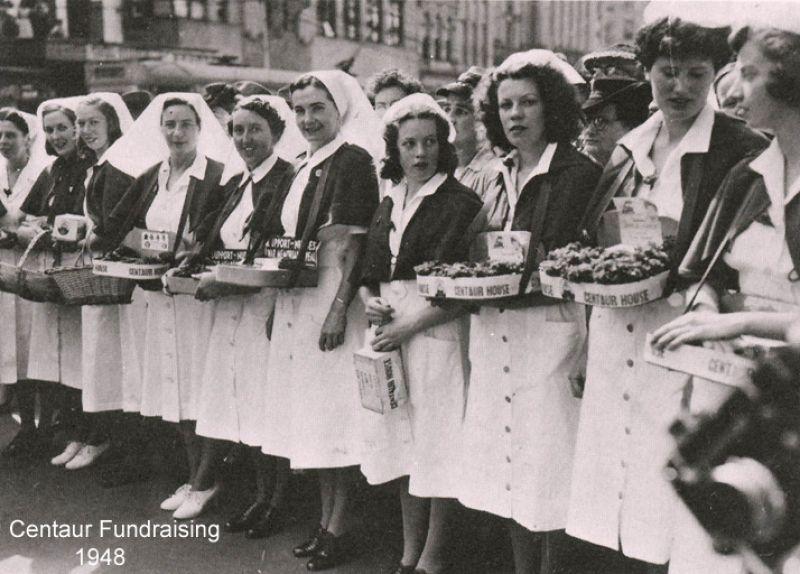 1948 Nurses collecting money