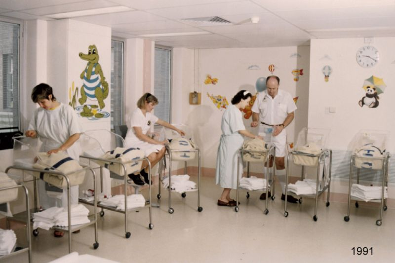 1991 maternity recovery room