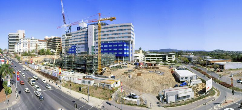 1999 Hospital building construction