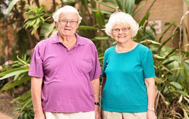 Older ladies smiling