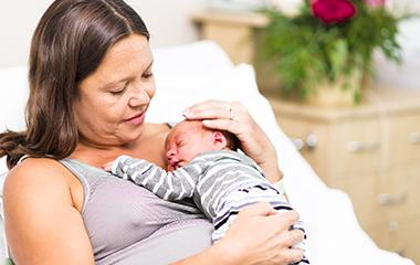 Women with newborn baby