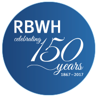 RBWH 150 years logo