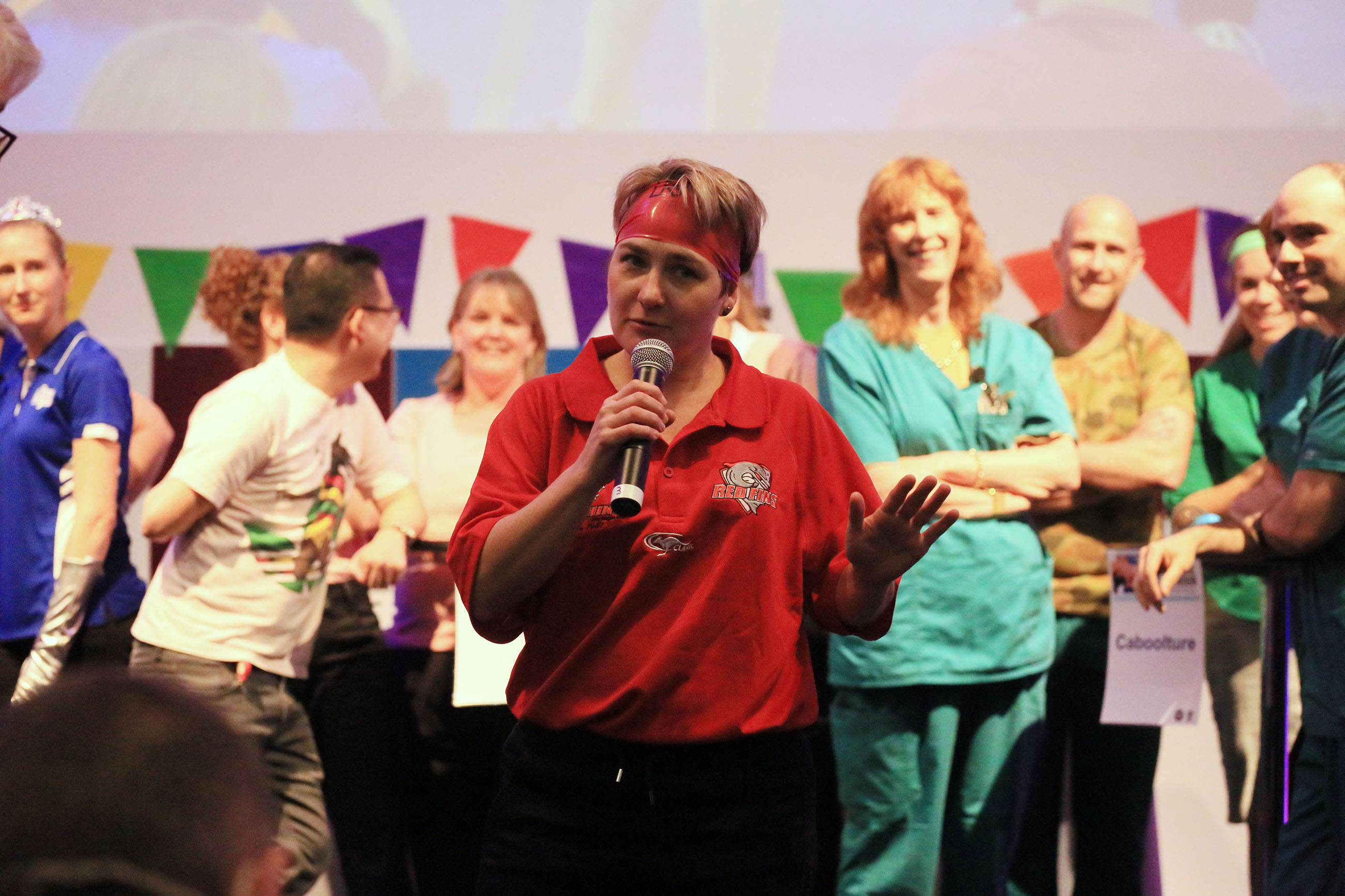 Redcliffe know how to please a crowd, reciting Metro North's values for the final Quiz spectacular!