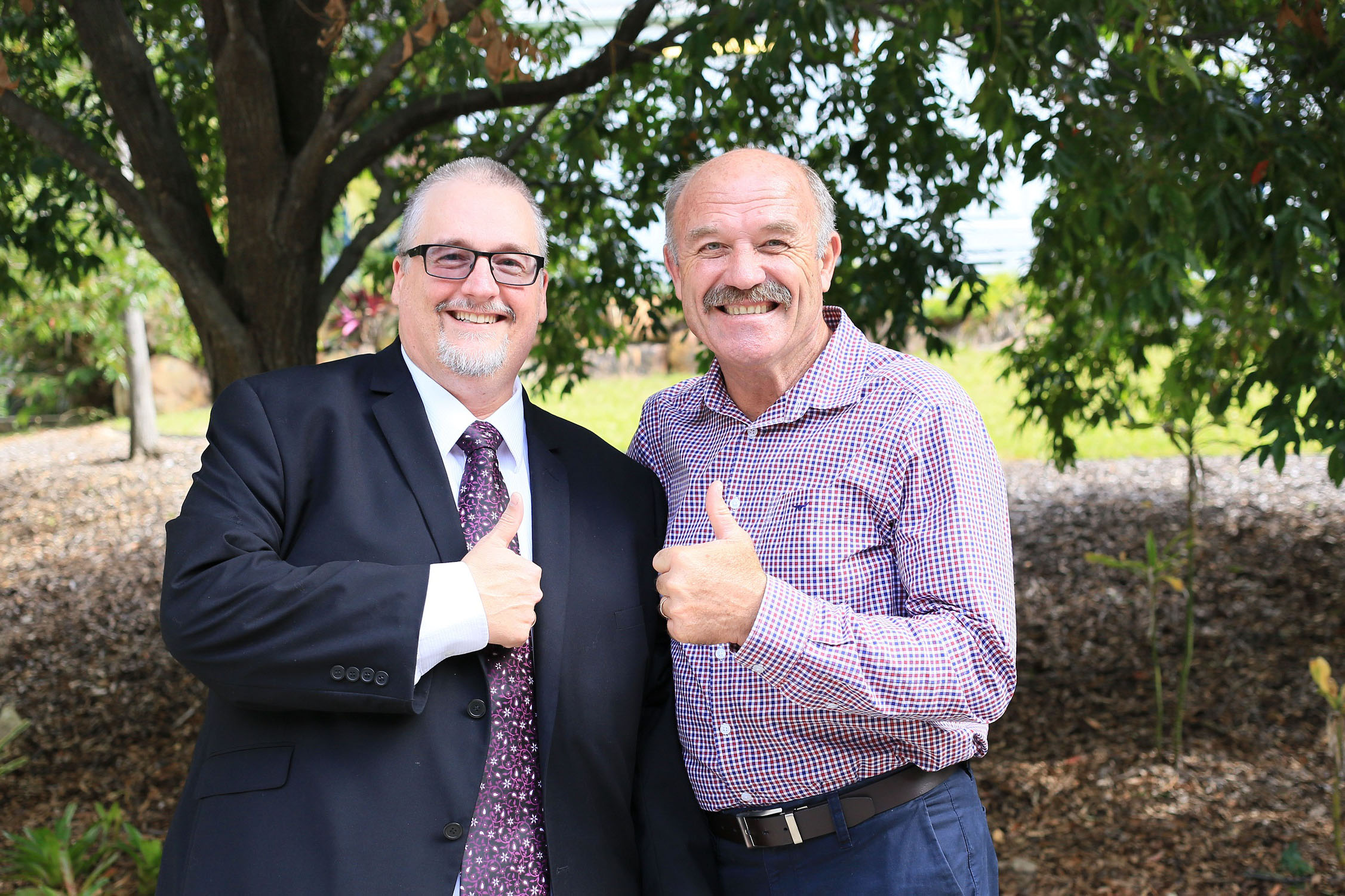 Chief Executive Shaun Drummond with Origin great Wally Lewis.