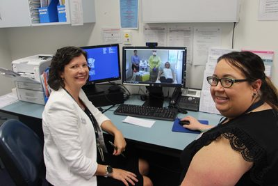 Dr Melissa Eastgate and telehealth nurse Kylie Hilford