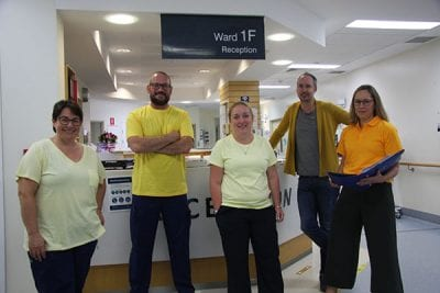 TPCH staff are wearing yellow to help raise awareness about delirium
