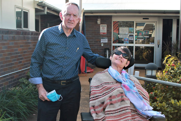 ania and Bob at the old Jacana Acquired Brain Injury Centre in 2017